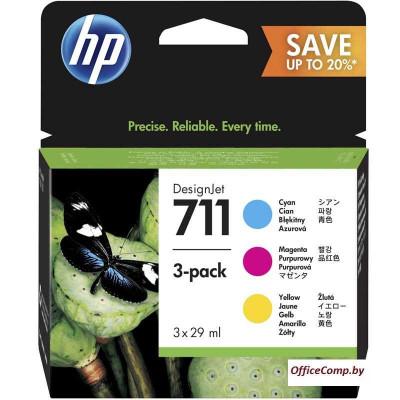 Картридж HP 711 3-pack (P2V32A)