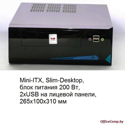 Корпус Mini-ITX Inwin BP655BL 200W Black