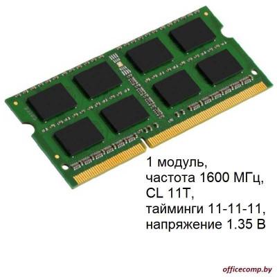 Оперативная память Kingston ValueRAM 8GB DDR3 SO-DIMM PC3-12800 KVR16LS11/8