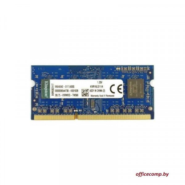 Оперативная память Kingston ValueRAM 4GB DDR3 SO-DIMM PC3-12800 KVR16LS11/4