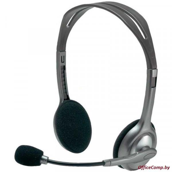 Наушники с микрофоном Logitech Stereo Headset H110 (L981-000271)