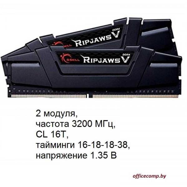 Оперативная память G.Skill Ripjaws V 2x8GB DDR4 PC4-25600 F4-3200C16D-16GVKB