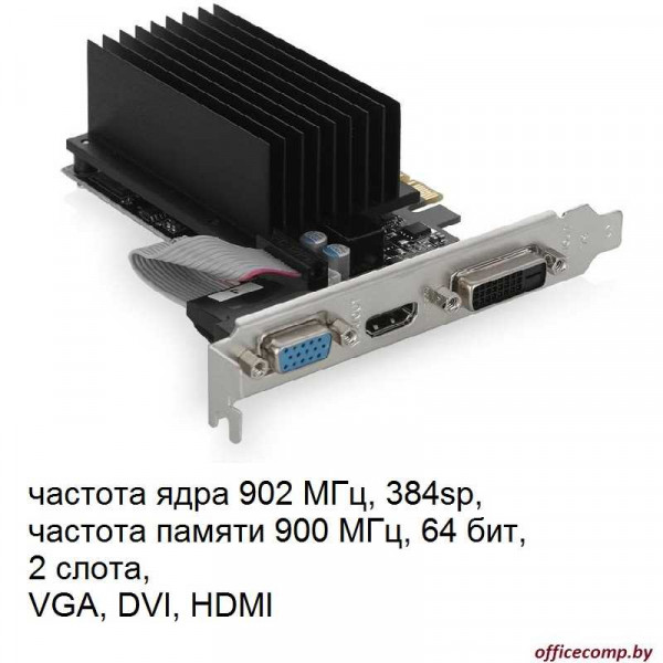 Видеокарта Palit GeForce GT 730 2GB DDR3 (NEAT7300HD46-2080H)